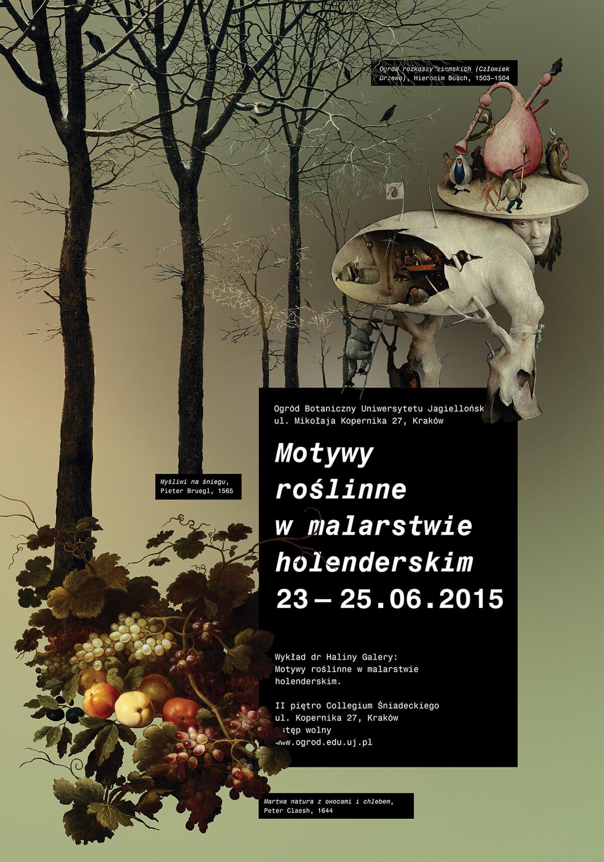 plakat pt. Motywy roślinne w malarstwie holenderskim