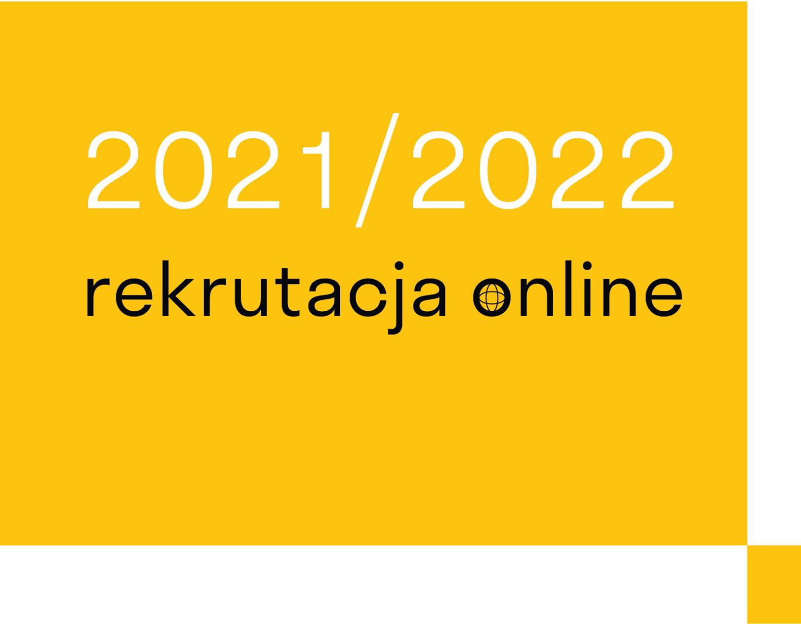 Plakat REKRUTACJA online 2021/2022